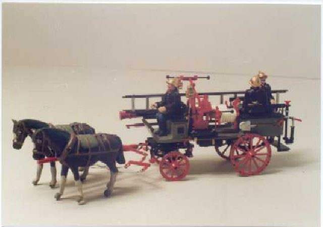 Horse-drawn fire cart from Moscow fire dept.mod N-